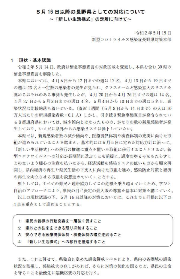 警戒 レベル 県 コロナ 長野 新型コロナウイルス関連情報